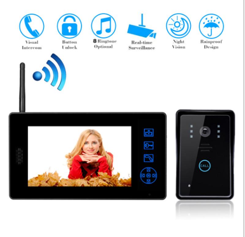 online kaufen gro handel wireless video t rsprechanlage sprechanlage aus china wireless video. Black Bedroom Furniture Sets. Home Design Ideas