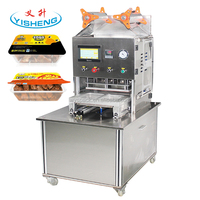 custom new type Factory price Automatic MAP tray sealer, food vacuum sealing machine, export to India