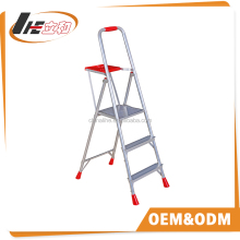 Aluminum movable 3 step ladder LHD-4A(GS,TUV,EN131)