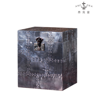 Industrial furniture storage functional metal trunk box L805