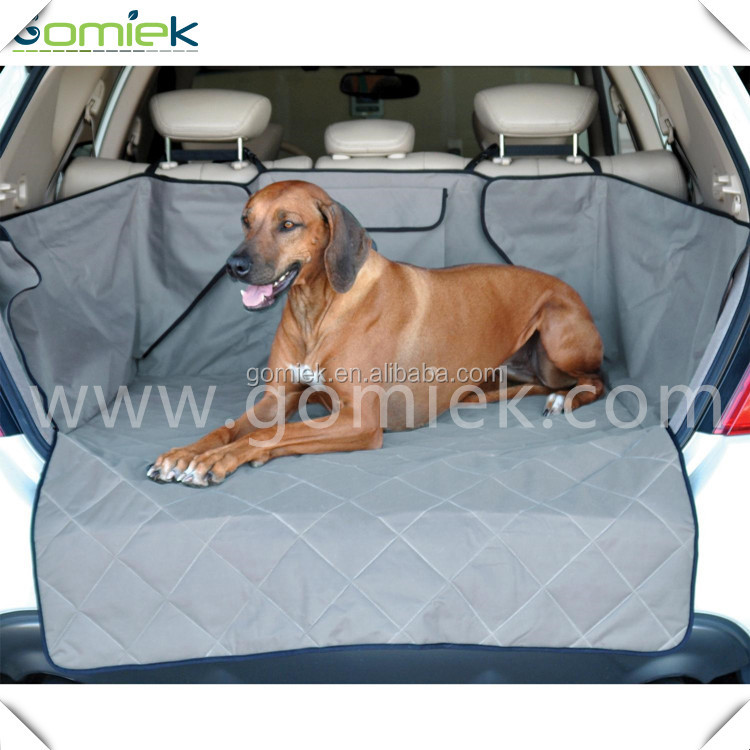 Latest bulk custom Waterproof Trunk suv car pet cover with pocket