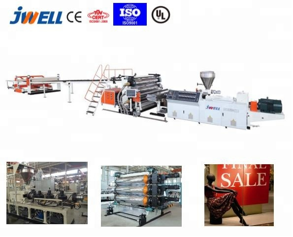 JWELL - Turkey hot pvc sheet extruder