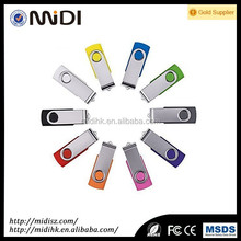 OEM logo metal face usb flash drive with 4gb