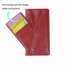 Flexible Card Slot Leather Phone Case with SIM Card Holder for Samsung Galaxy