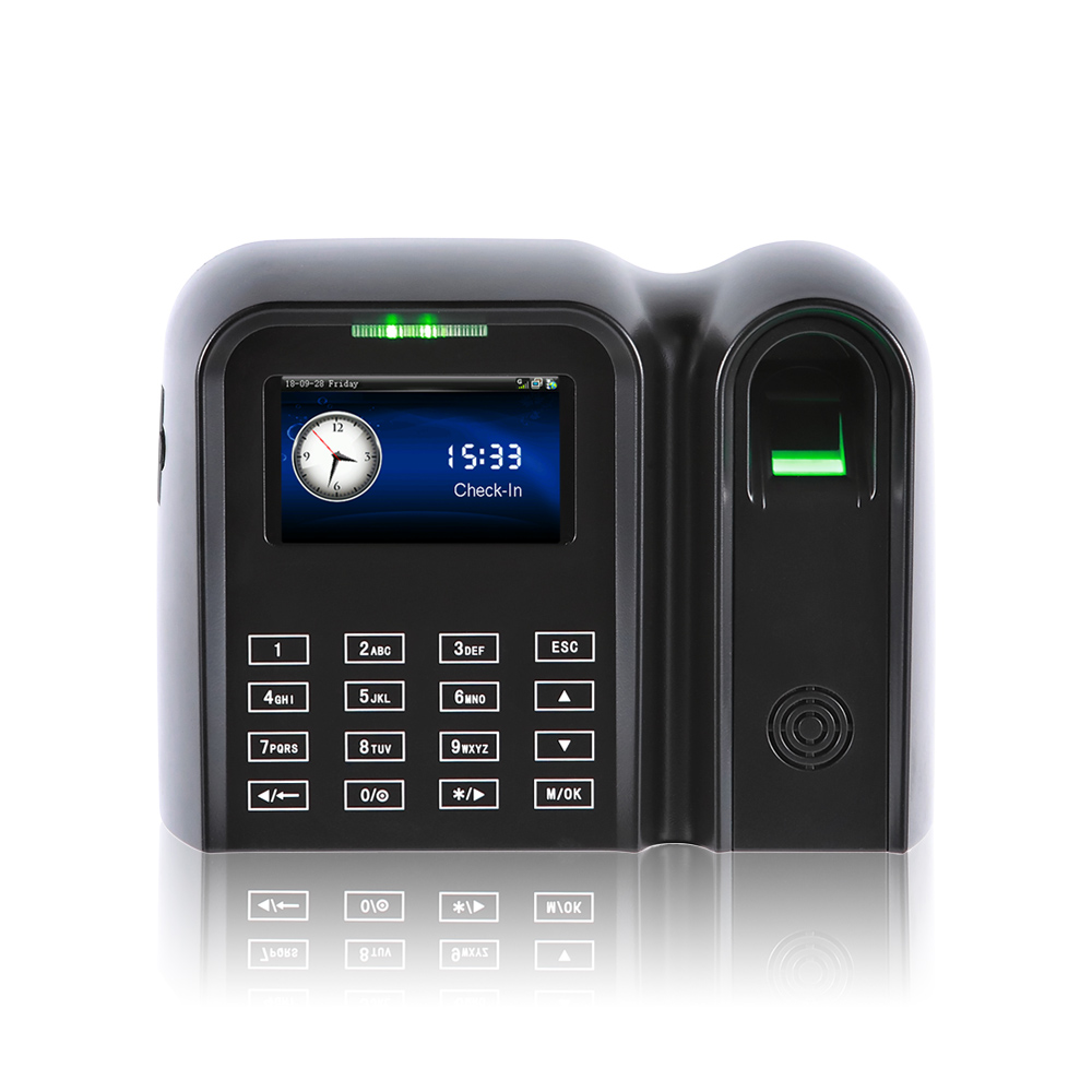 Free software face recognition fingerprint biometric device time attendance system with access control