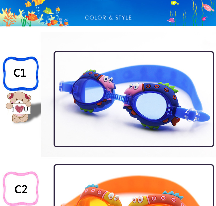 Cartoon Glasses Kids Boys Girls Outdoor Anti Fog Waterproof goggles Summer Adjustable buckle Children Swimming Glasses Cute New