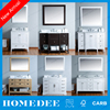 Homedee Luxury solid wood cabinets standing floor bathroom vanity,bathroom cabinets vanity