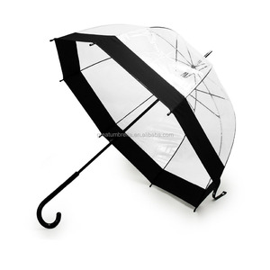 23-Inch Children's Plastic Clear Dome Umbrella