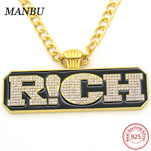 hip hop bling iced out necklace chains jewelry N835