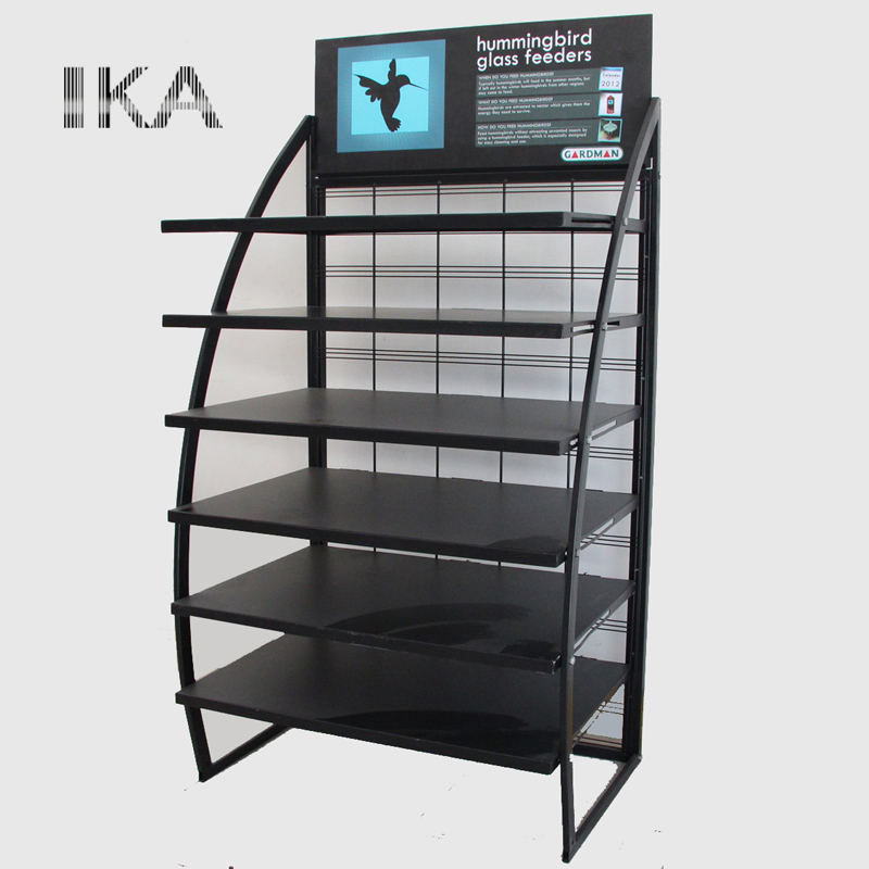 factory customized multi layers metal advertising display stand for <strong>retail</strong>