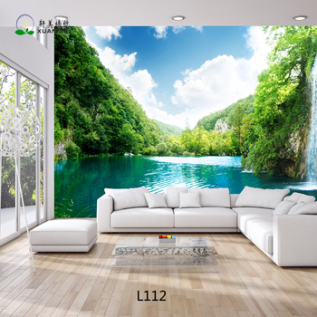 Beautiful landscape 3d wallpaper customized living room for 3d wallpaper in living room