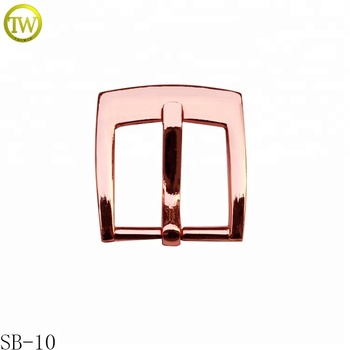 Rose gold shoes metal buckle blank metal pin belt buckle manufacturers