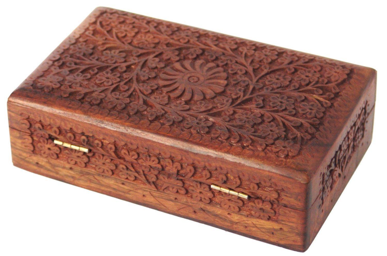 Buy itos handmade wooden keepsake storage case jewelry box