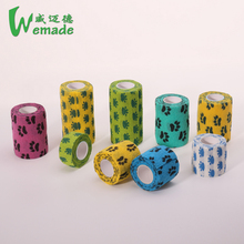 Medical surgical consumables vet colored elastic wrap custom printed tape rolls