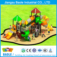 Outdoor playground type and plastic playground material children games outdoor playground equipment