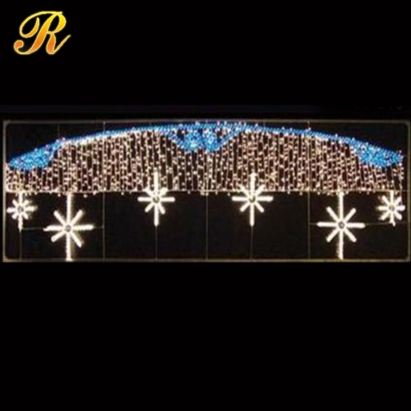 2015 latest design 2D led pole motif light holiday lighting Outdoor Christmas street decorations light city