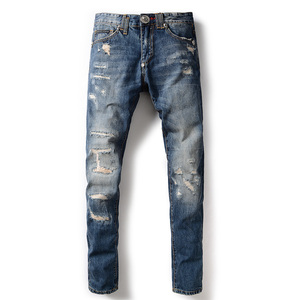 Mens OEM/ODM customer stretch skinny d denim republic jeans pants welcome sample checking
