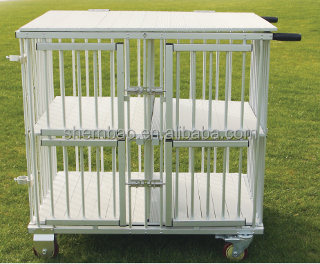 Shernbao KB-511 aluminum dog crate With four industrial strength casters wheels and handle
