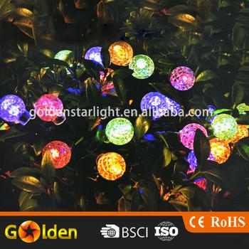 multi color 35 led fairy ball solar string light for christmas trees garden patio