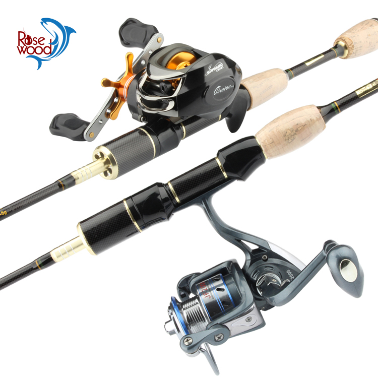 Rosewood wholesale 3 Section UL travel fishing rod and reel combo spinning casting rod with spinning reel batcasting reel tackle