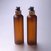 100m l150ml 250ml 300ml amber pet bottle pet plastic bottle with bamboo spray pump bottle