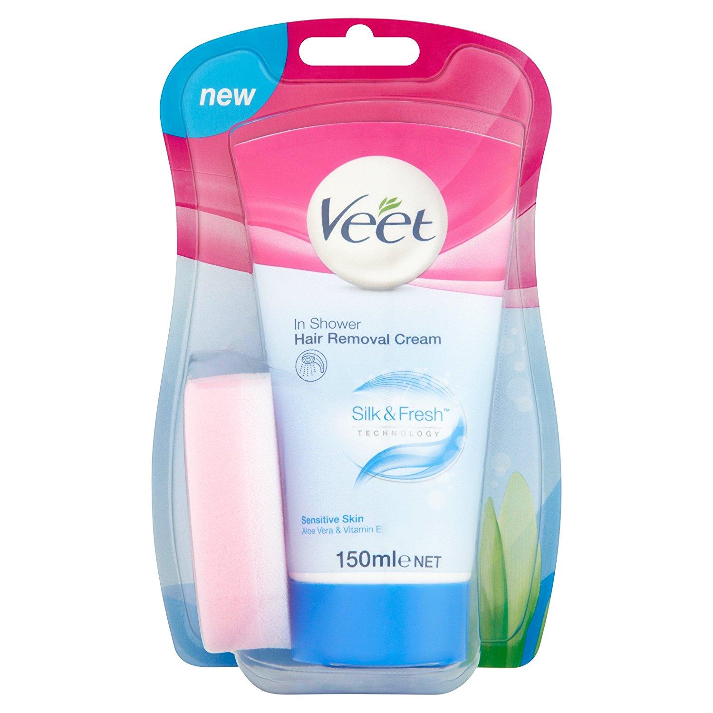 Buy Veet In Shower Hair Removal Cream Sensitive Skin With Aloe