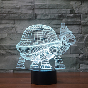 Creative 3D night light of turtle shape animal acrylic table lamp for gifts FS-3574