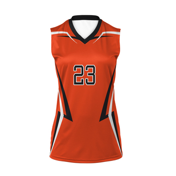 Professional manufacture cheap new design Volleyball Ball Shirts Jersey