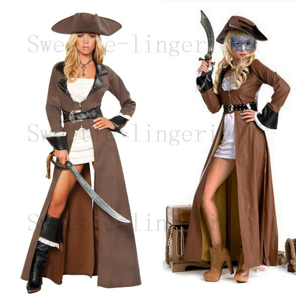 Buy Women Leather Pirate Costumes Carnival Costumes High