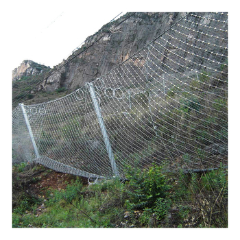 hot dipped galvanized rockfall barrier fence SNS rockfall netting slope protection rockfall barrier