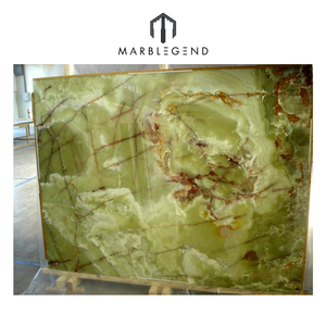Luxury hotel and home decoration green onyx slabs
