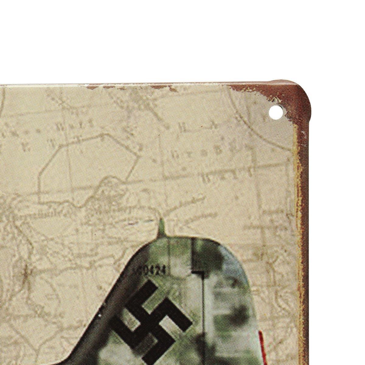 20x30cm World War Vintage Military Battle Plane Sheet Metal Drawing Decor Wall Art Plaques Signs