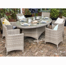 Royal style big garden banquet furniture poly rattan chair and outdoor elegant dining table sets