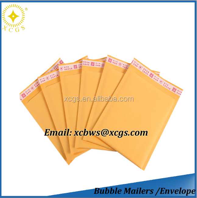 6x10 Gold Kraft Bubble Shipping Mailers with logo