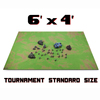 "6' x 4' Open Field Neoprene Tabletop Battlemat with 1.25"" Hex Grid and Carrying Case by Stratagem"