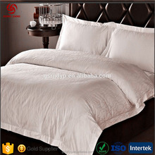 Cotton jacquard hotel bedding sets bed sheet and duvet cover
