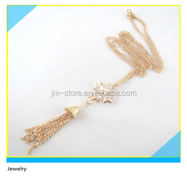Zinc Alloy Material T-Shirt Necklace Gold Metal Bell Design Pendant Chain