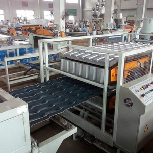 PVC Corrugated plastic roof tile sheet extrusion production line