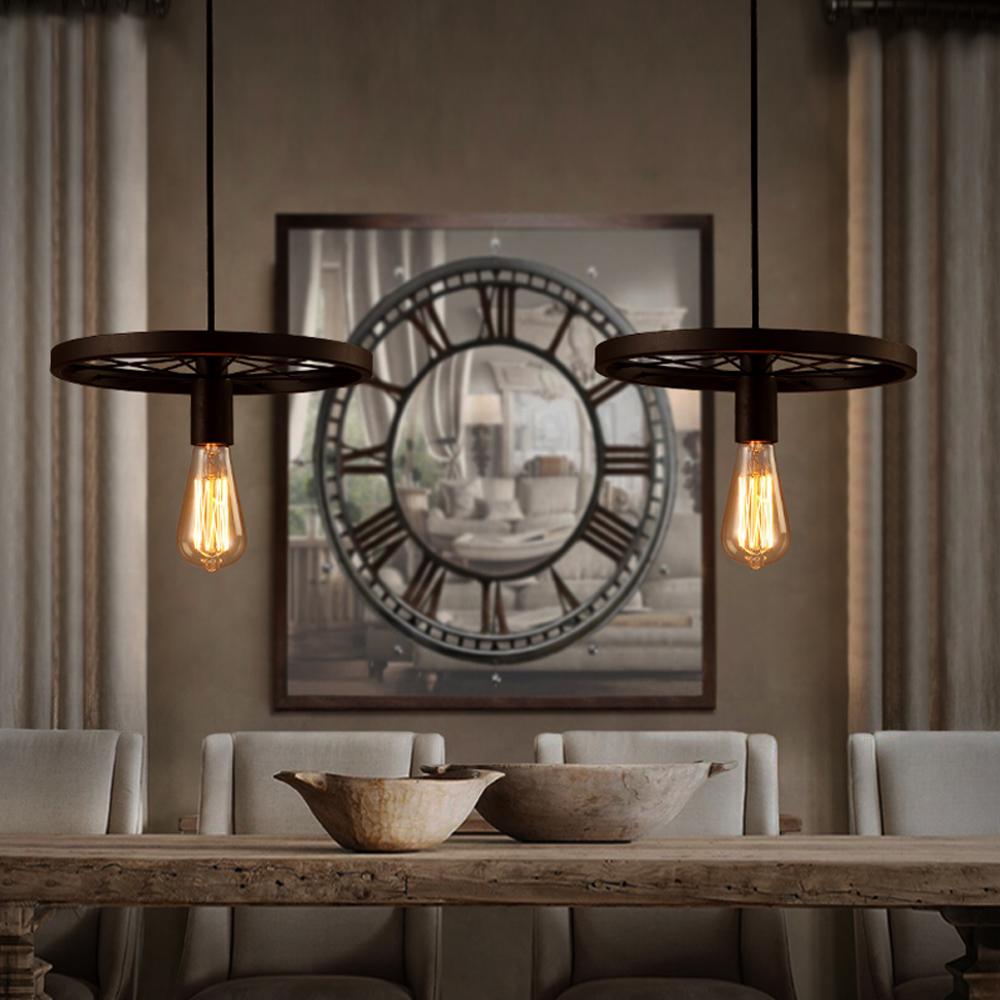 Vintage stijl industri le lamp edison lamp opgeschort hanglamp kroonluchters en hanglampen - Licht industriele vintage ...