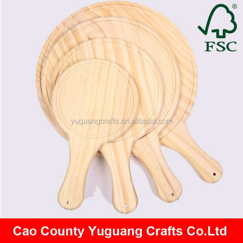 Kitchen Accessories Unfinished Pine Wood Breadboard Wooden Bread Cutting Board