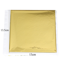 13 X 13.5 cm 500 Sheets per Pack Gilding Taiwan K Gold for Decorating Wall Ceiling Crafts Furniture Imitation Gold Leaf Foil