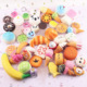 Kawaii squeeze toys Mini Soft Extrusion Bread Toys Keyring Rising Decompression squishy