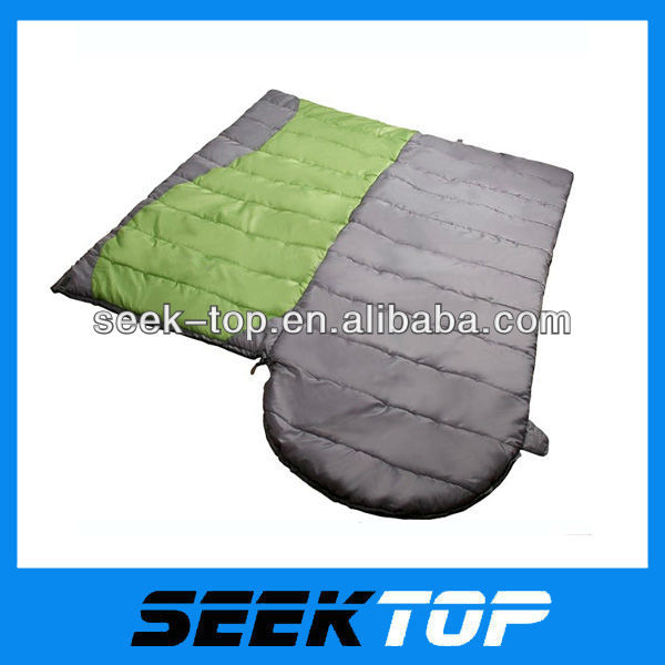 3 season 100% polyester fibre envelope double sleeping bags