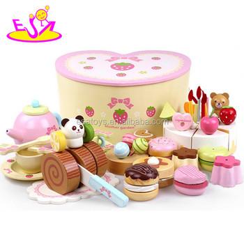 New Arrival Wooden Birthday Cake Toy Diy Birthday Present Wood Cake Toy Set Colorful Cutting Play Kid Play Set Toys W10b102 Buy Birthday