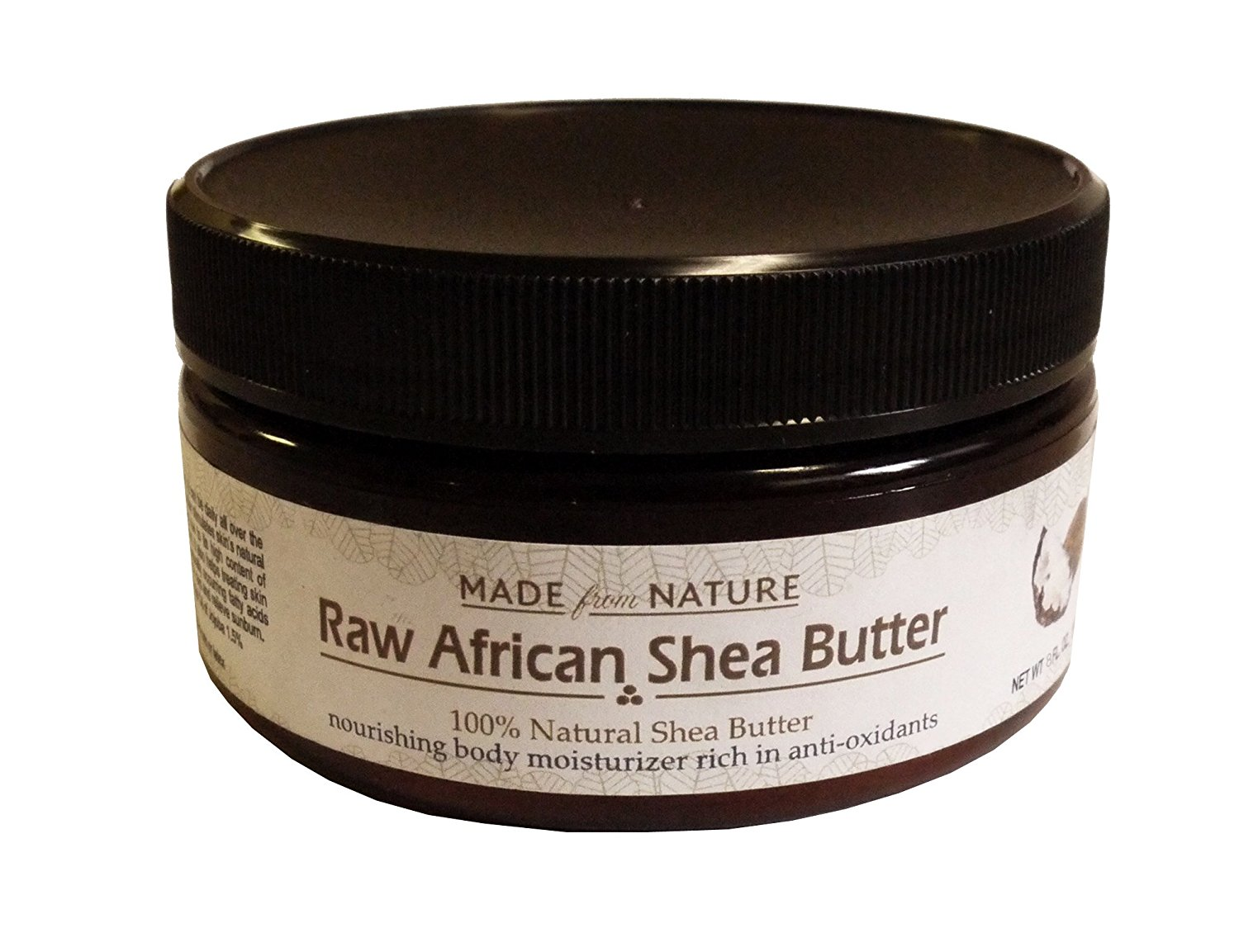 Made From Nature Raw African Shea Butter 98% Natural Shea Butter 1.5% Jojoba Oil 0.5% Fresh Flower Flavor -Nourishing Body Moisturizer Rich in Anti-oxidants. Premium Raw Unrefined African Organic Grade a Ivory Shea Butter for Natural Skin Care, Hair Care and Body Butters. - 100% Pure and Double