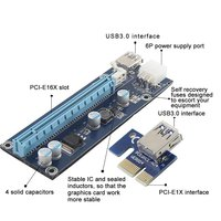 SSD PCI-E 1x to 16x riser card cable adapter for computer