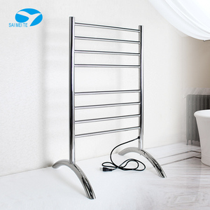 Metal bathroom towel shelf floor standing electric heated towel racks