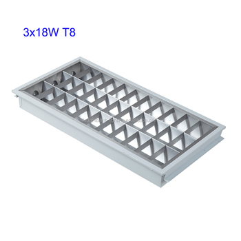 Protective t5 t8 tube led grille rectangular recessed lights protective t5 t8 tube led grille rectangular recessed lights hospital school office ceiling lamp 3x18w aloadofball Images