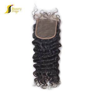 top full lace brazilian hair lace closure,wavy human hair silk top lace closure,russian hair closure