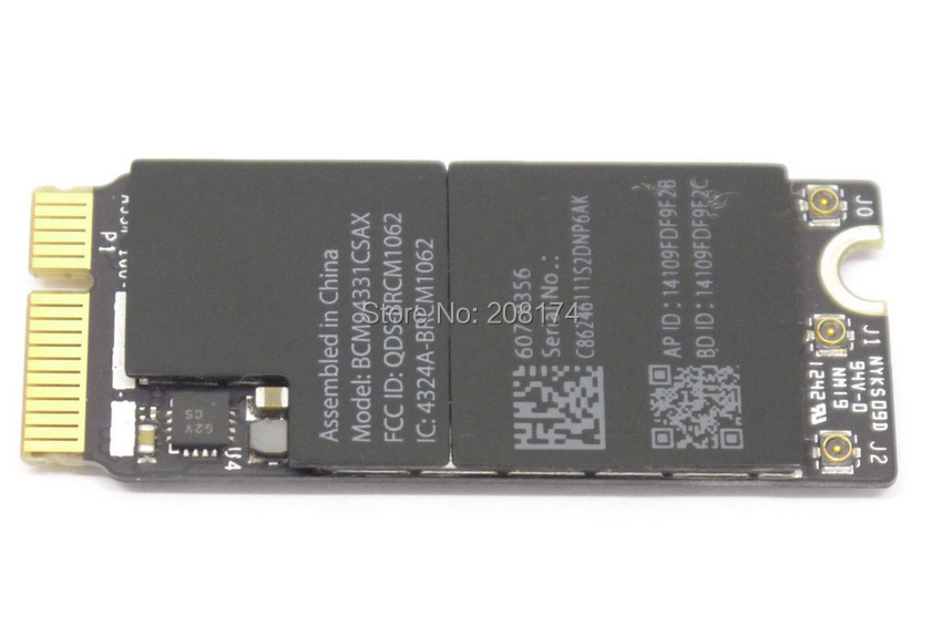 Free shipping fee A1398 A1425 Wifi card For Macbook Pro Retina M975 MC976 MD212 MD213 Airport Bluetooth Card 607-8356